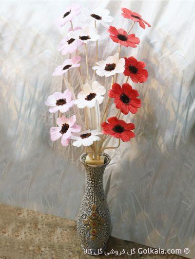 شقایق برفی-گلدان سفال نقش برجسته
