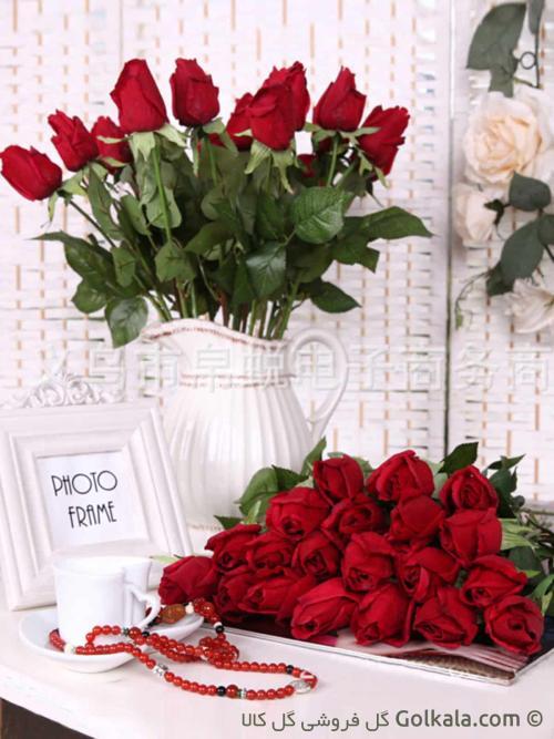 گل رز سرخ مانیا - گل کالا - عکس گل زیبا