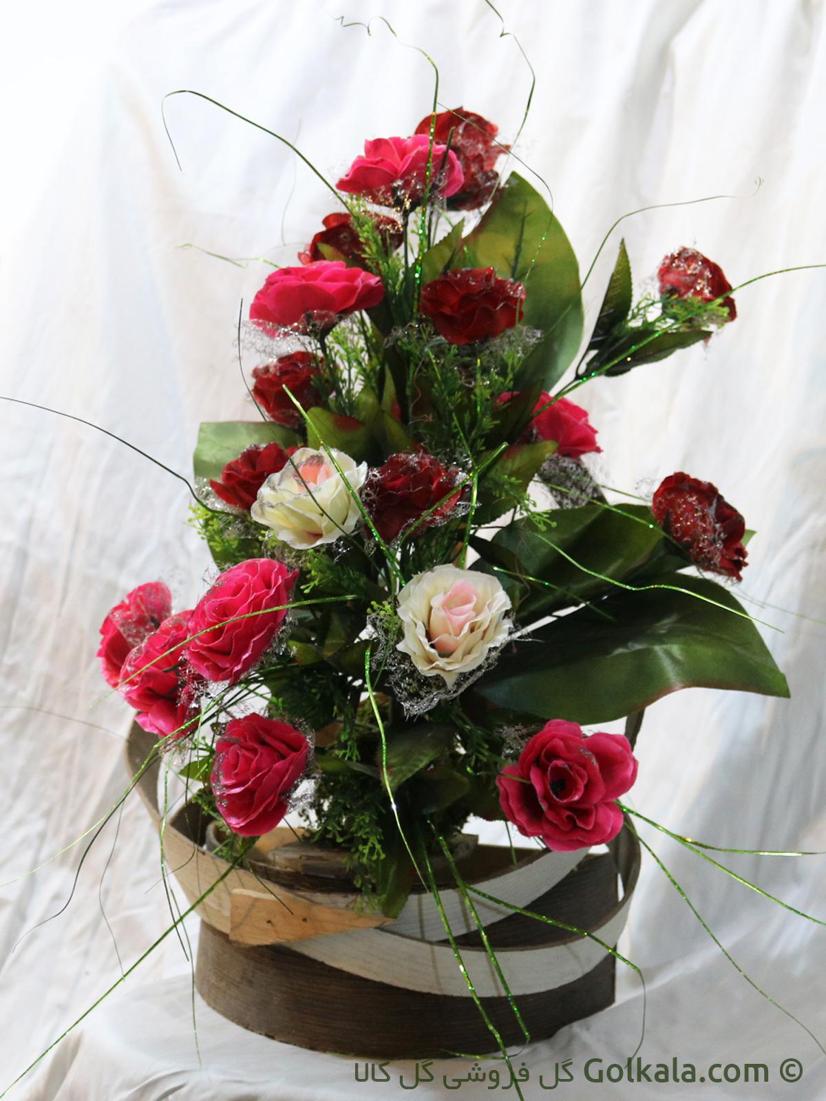 سبد گل - سبد گل رز فانتزی - گل کالا
