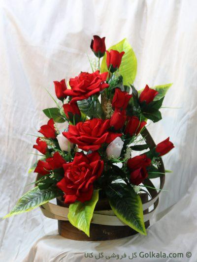 گل رز قرمز, غنچه رز قرمز و سفید
