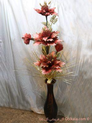 گلدان گل ختمی با الیاف طبیعی