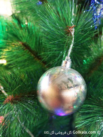 تزیین درخت کریسمس - توپ براق رنگی