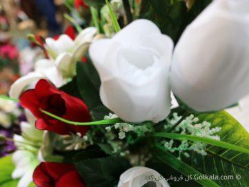 غنچه گل رز - سبد گل زیبا رز و لیلیوم