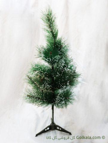 درختچه کاج زیبا برفی