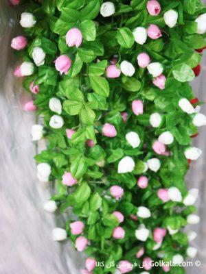 ریسه گل بهاری بلند با گلهای سفید و صورتی