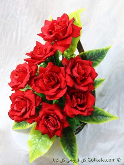 سبد گل زیبا, سبد گل رز قرمز سرخ