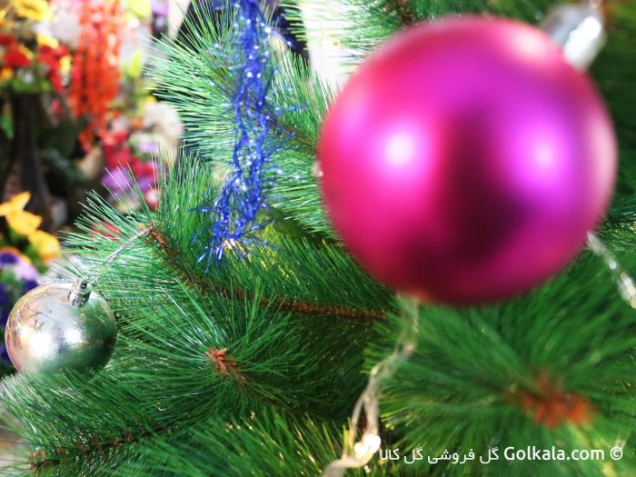 تزیین درخت کریسمس - گوی رنگی