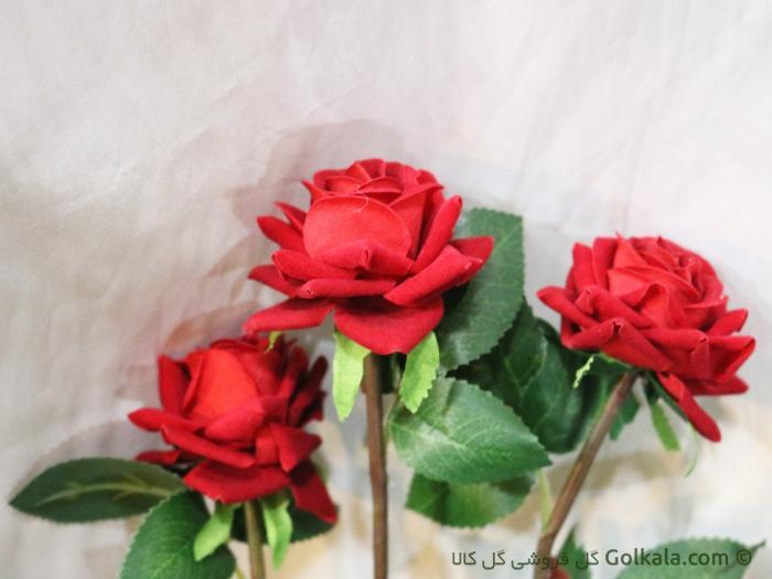 شاخه گل - گل رز صورتی - گل رز قرمز