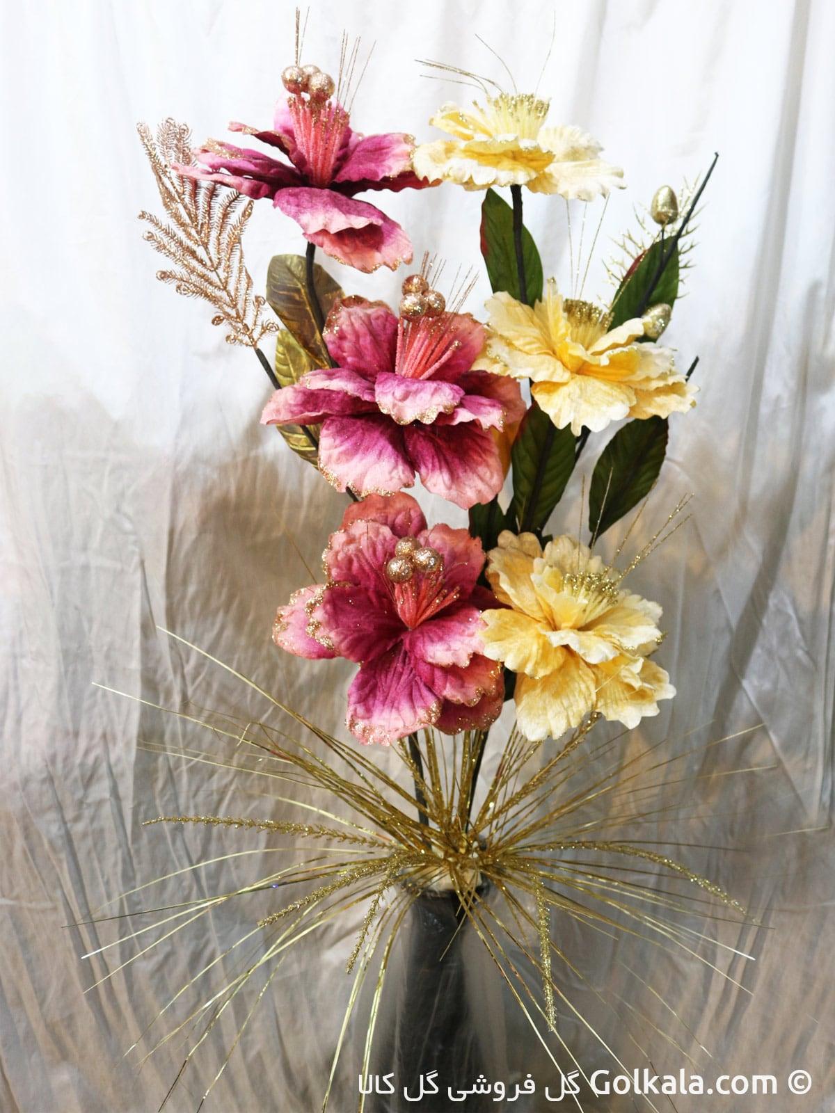 گلدان گل ختمی