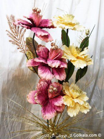 گل ختمی زرد گل ختمی بنفش