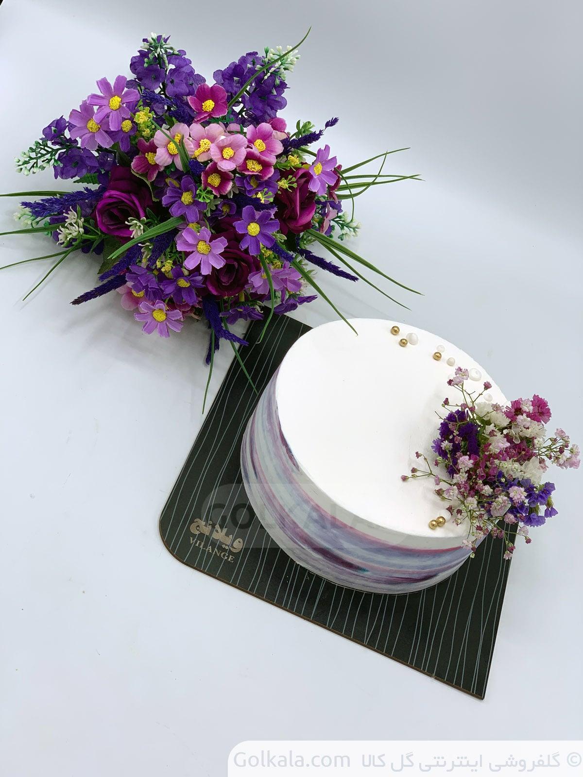 دسته گل مصنوعی بنفش یاسی گل خشک رز شکوفه زیبا ارزان قیمت سفارش
