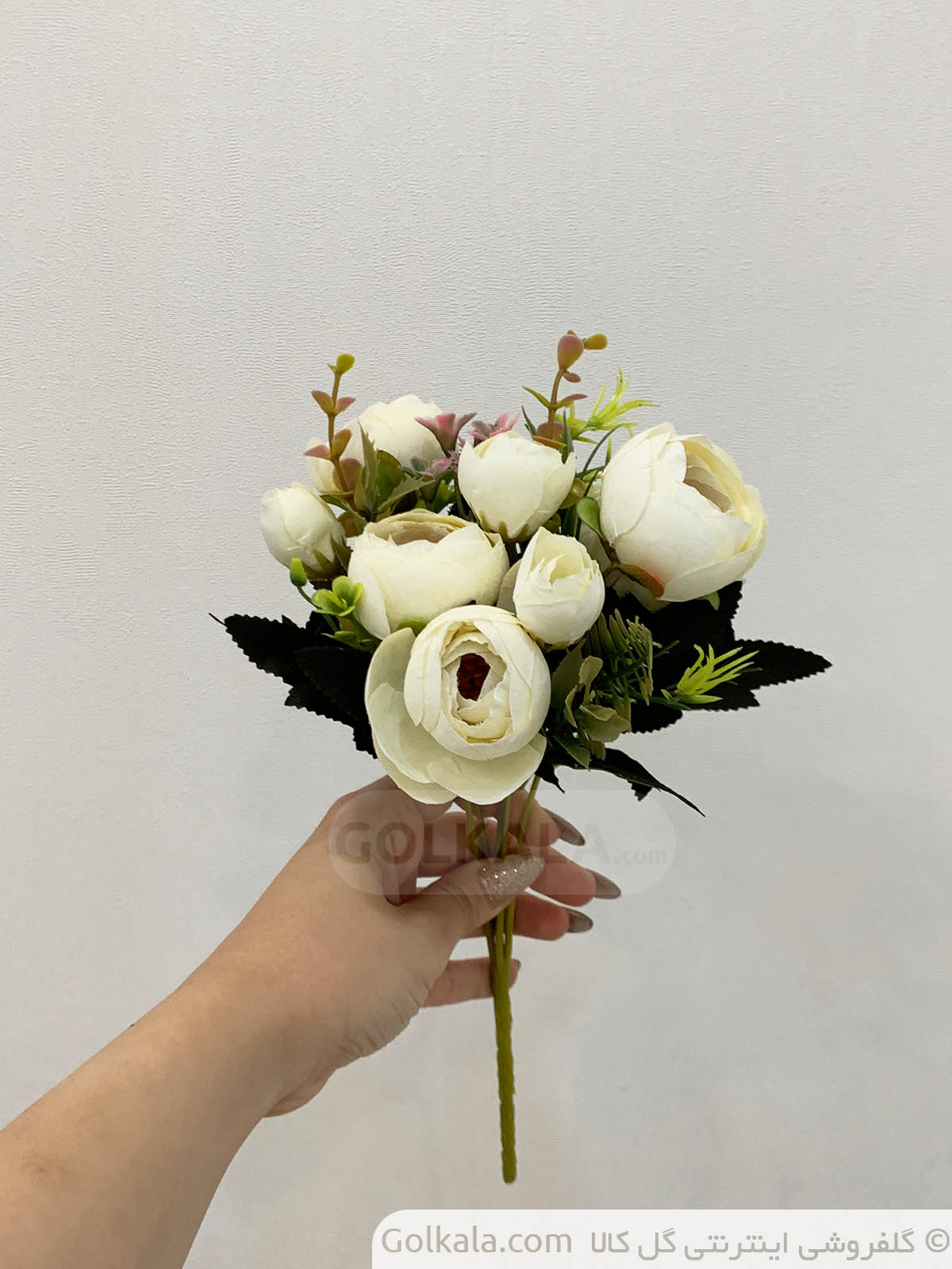 شاخه گل پیونی سفید گل کالا