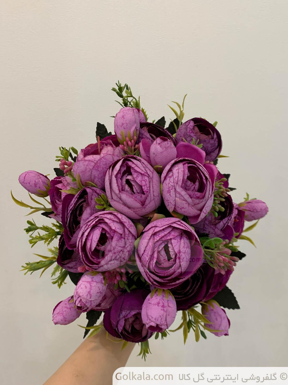 پیونی بنفش دسته دو گل گل کالا