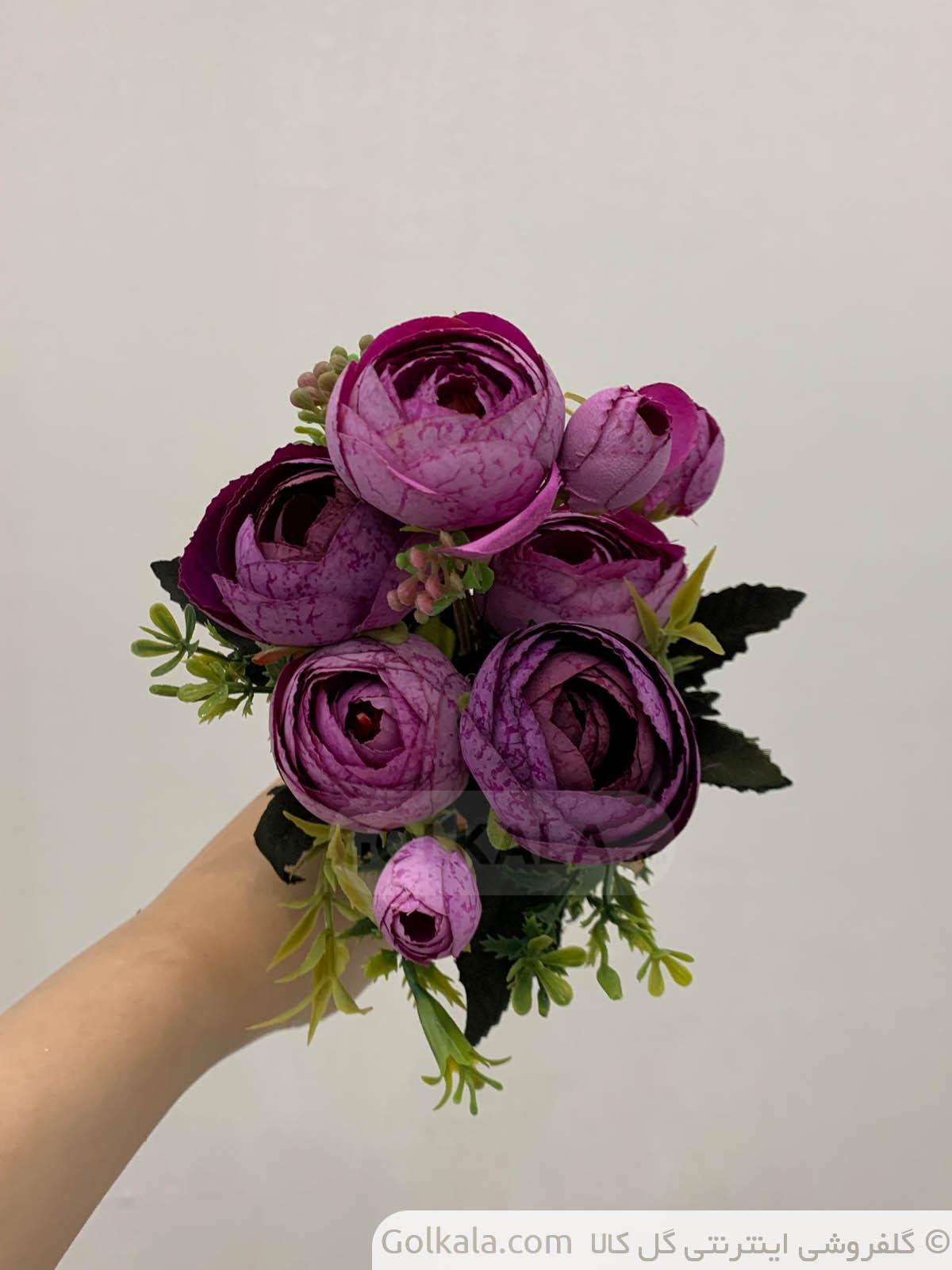 پیونی بنفش دو گل کالا