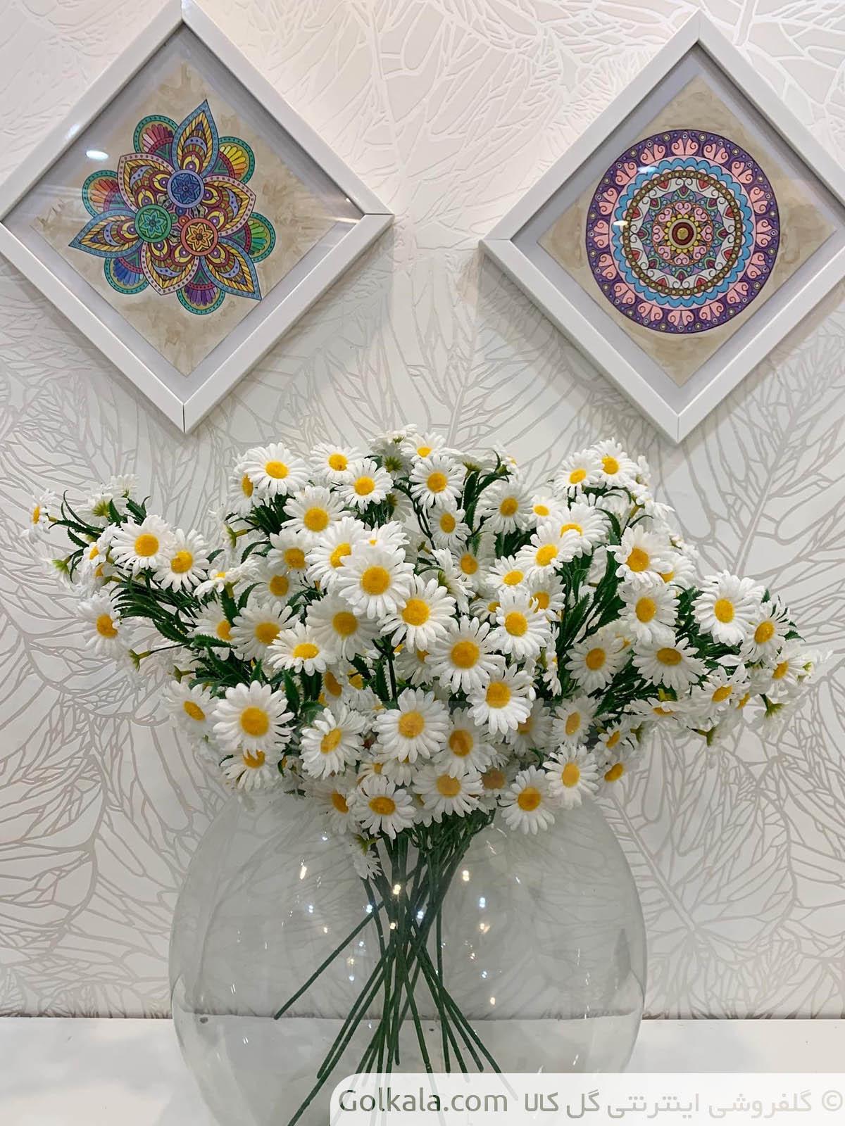 شاخه گل بابونه دسته بزرگ گل کالا