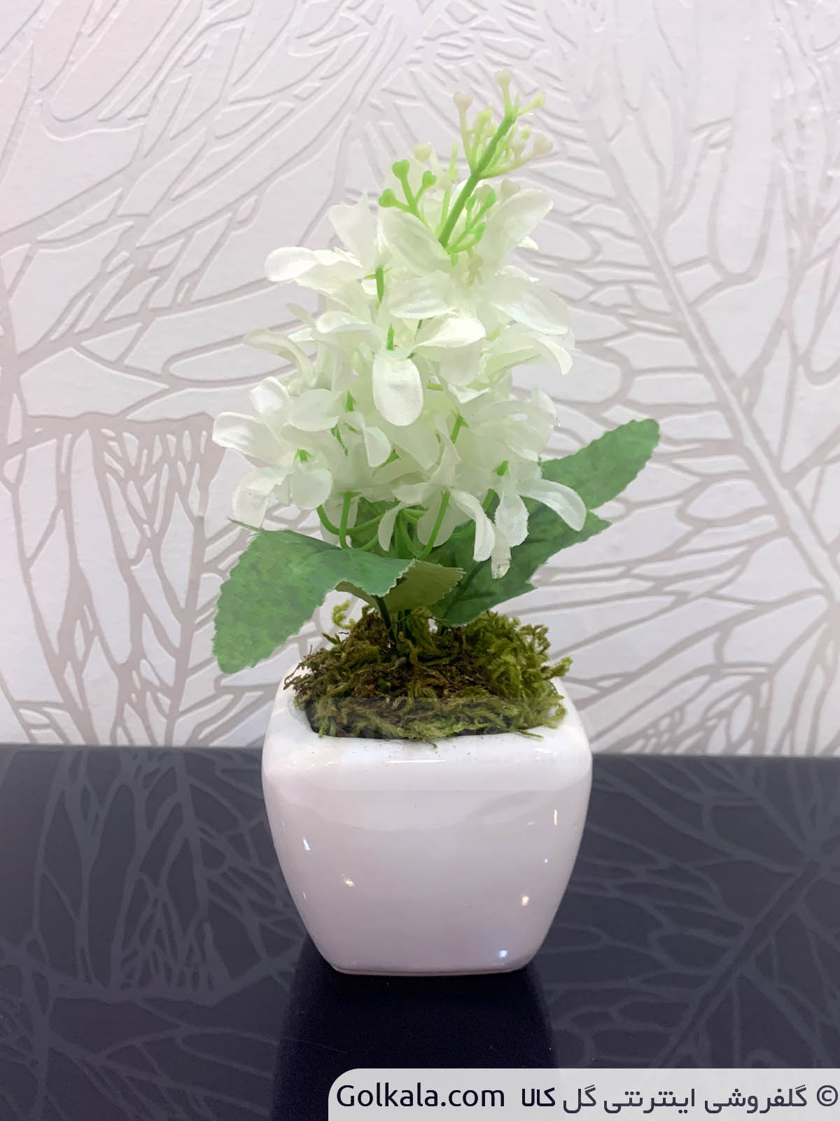 گلدان سنبل کوچک سفید