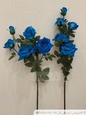 شاخه گل رز پنج دوتایی آبی گل گل کالا