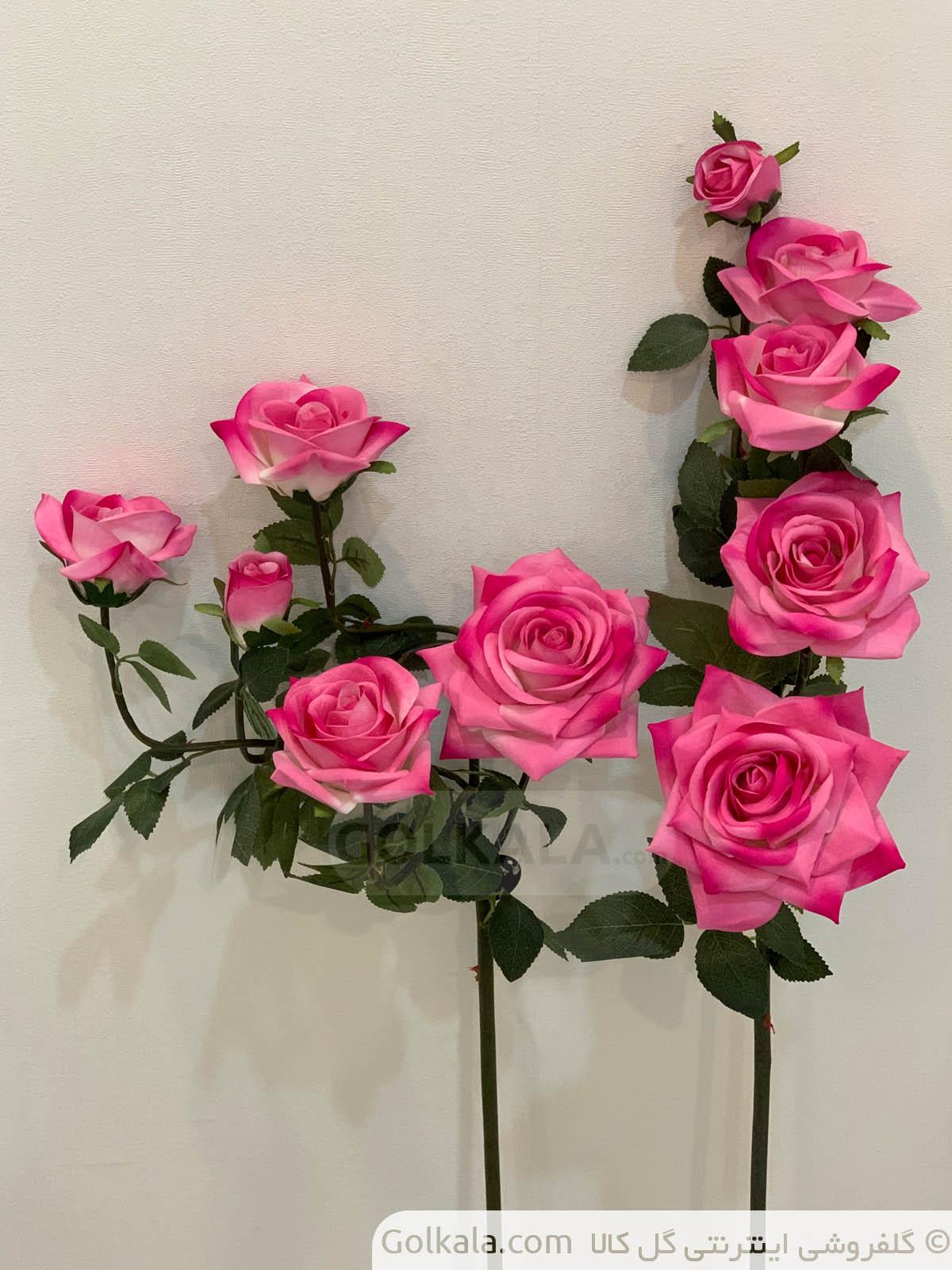 شاخه گل رز پنج دوتایی گل گل کالا
