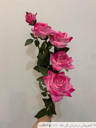 شاخه گل رز پنج دوگل گل کالا